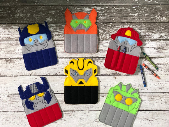 Transformer Rescue Bot Crayon Holders - 805-masks