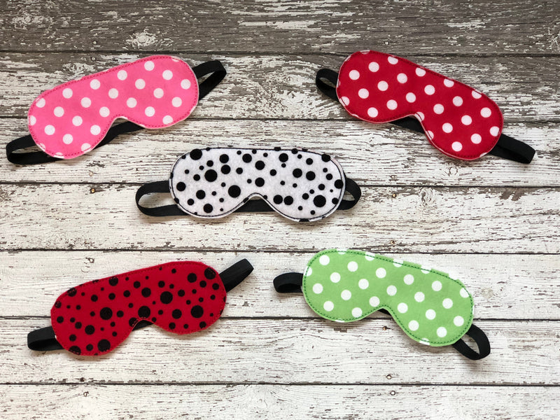 Polka Dot Sleep Mask - 805 Masks