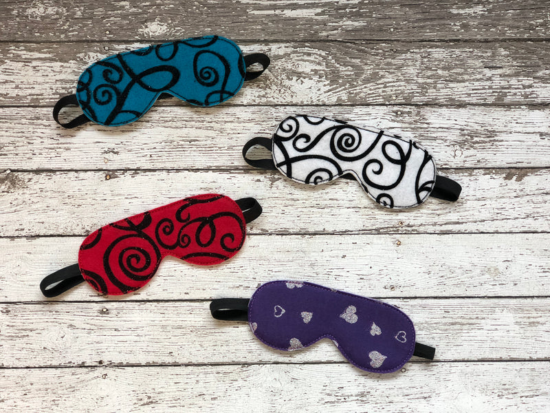 Glitter Patterned Sleep Mask - 805-masks