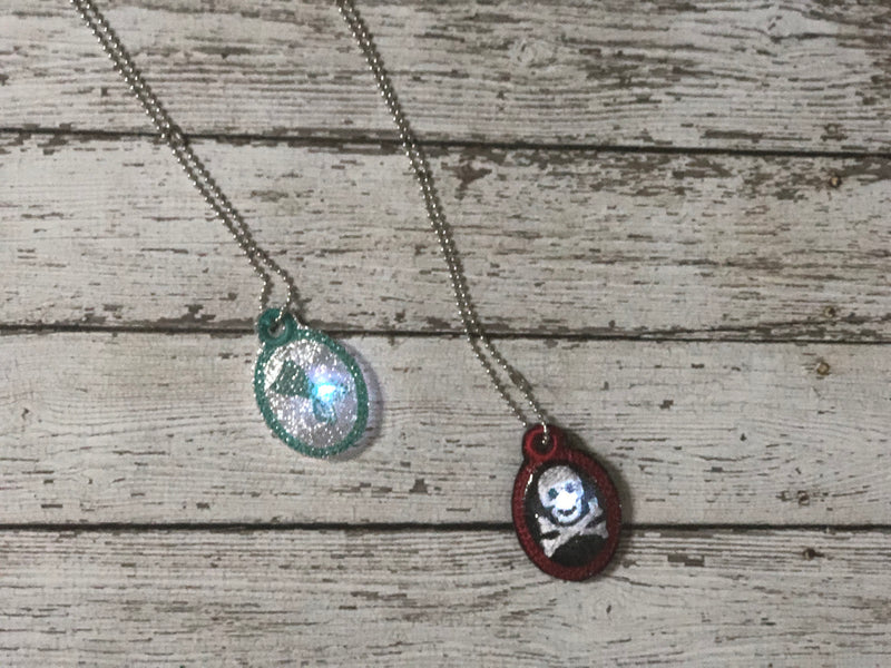 Pirate and Mermaid Light Up Flasher Pendant - 805-masks