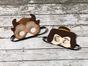 Beauty and the Beast Inspired Felt Masks - 805 Masks
