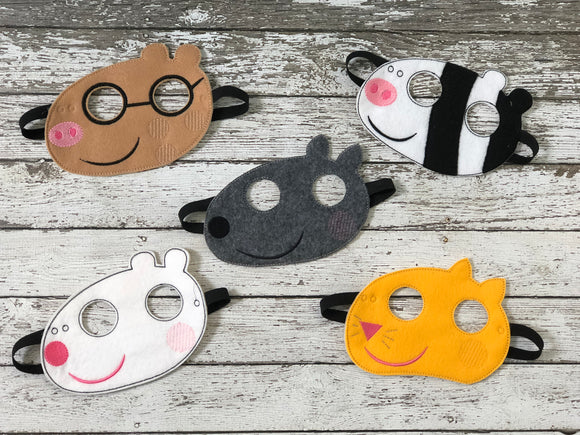 Peppa Pig Inspired Felt Masks - 805-masks