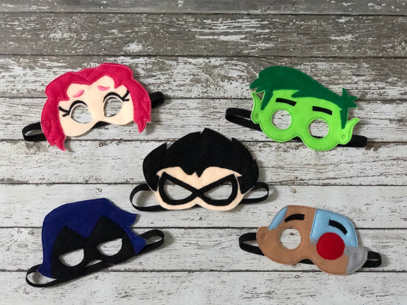 Teen Titans Inspired Felt Masks - 805 Masks