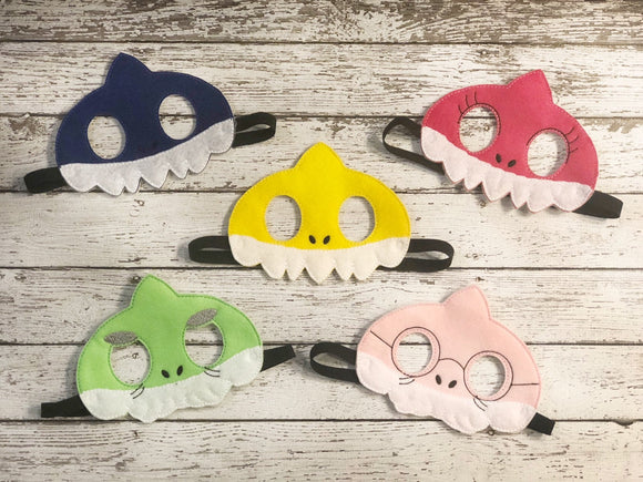Shark Family Felt Masks - 805-masks