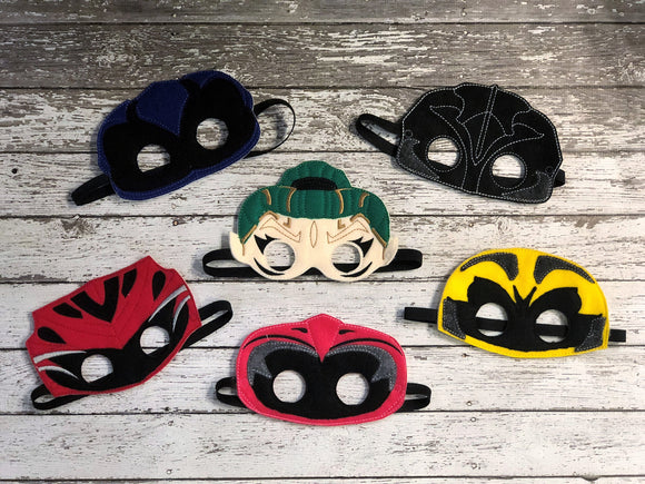 Power Ranger Inspired Felt Masks - 805-masks