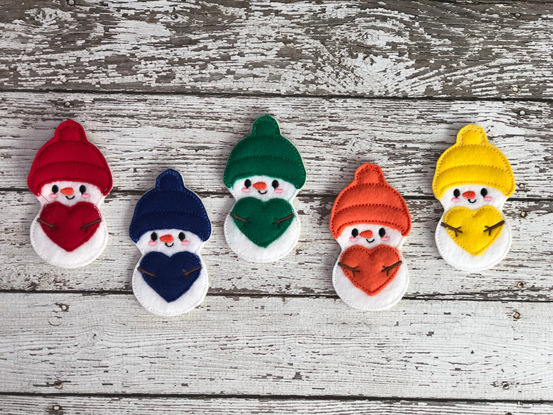 5 Little Snowmen Finger Puppets - 805-masks