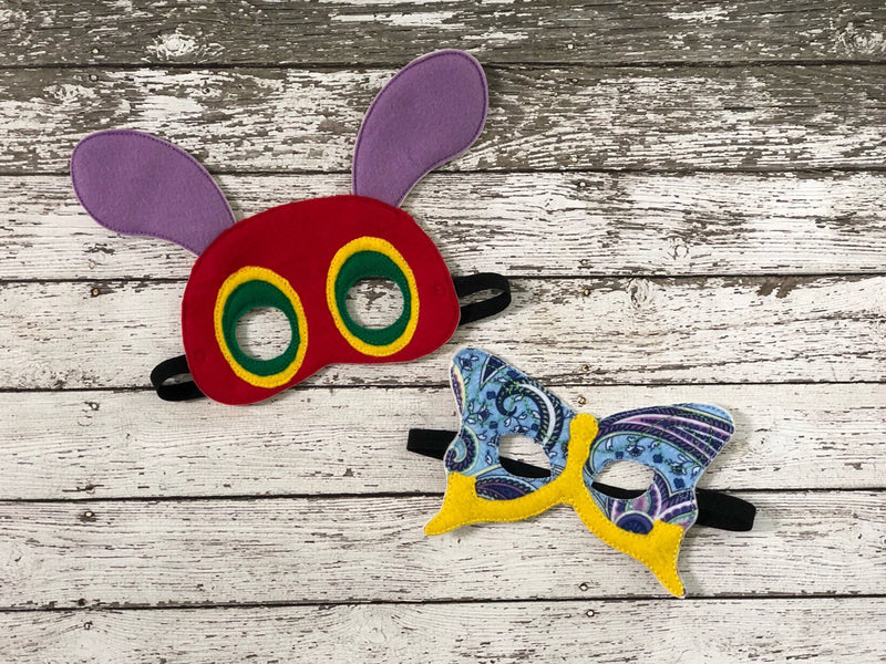 The Very Hungry Caterpillar Inspired Felt Masks - 805 Masks