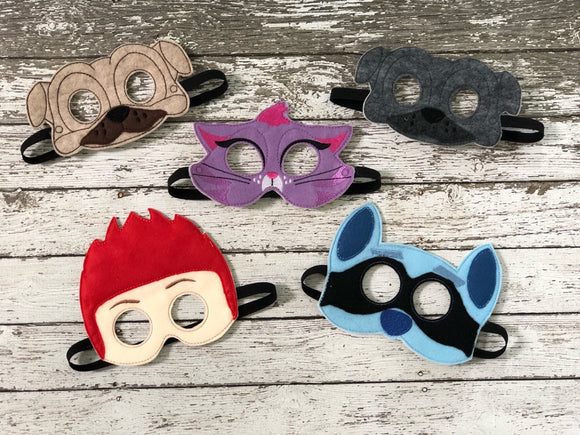 Puppy Dog Pals Mask Halloween Mask Hissy Cat Mask Pug Mask Puppy Pals Party Hissy Dog Pals Kitty Mask Kitten Mask