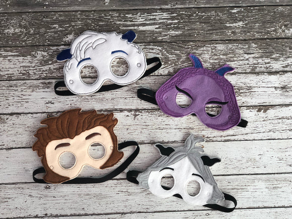 Smallfoot Inspired Felt Masks