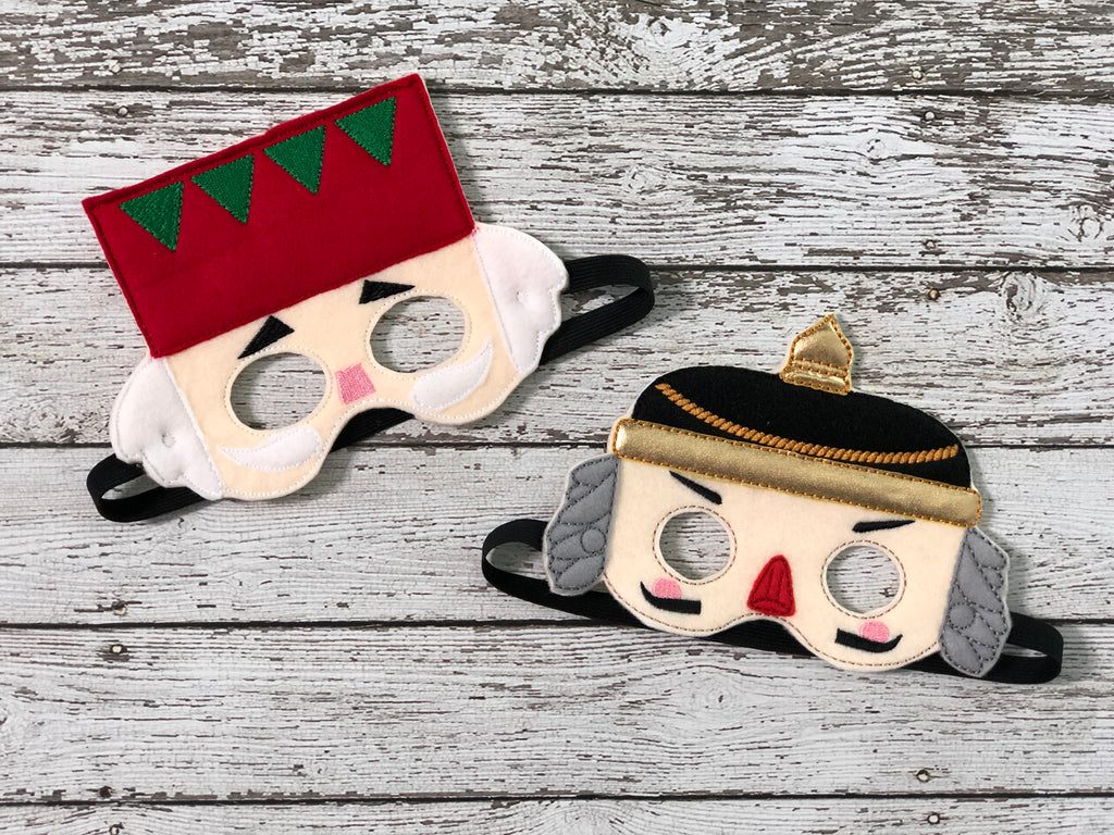 Christmas Nutcracker Felt Masks - 805-masks
