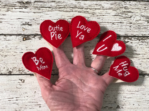 5 Little Valentine finger puppets - 805-masks