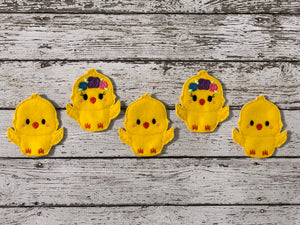 5 Little Chicks Felt Finger Puppets - 805 Masks