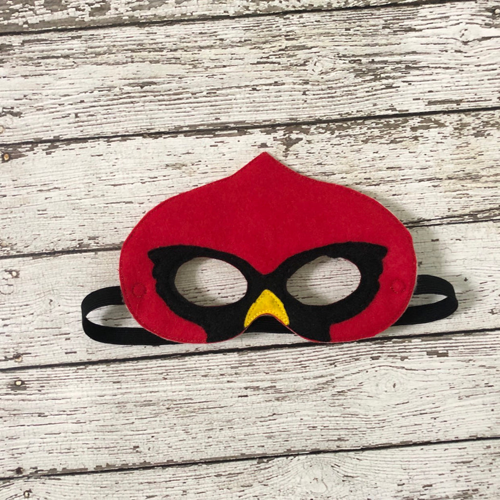 Cardinal Bird Felt Mask - 805 Masks