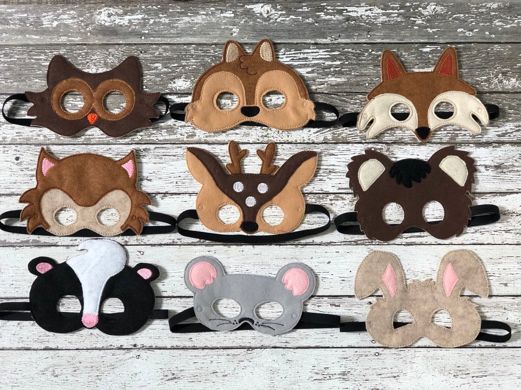 Woodland Animal Felt Masks - 805 Masks