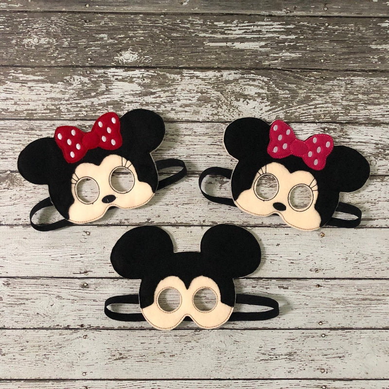 Mickey Mouse and Minnie Mouse Inspired Felt Masks - 805-masks