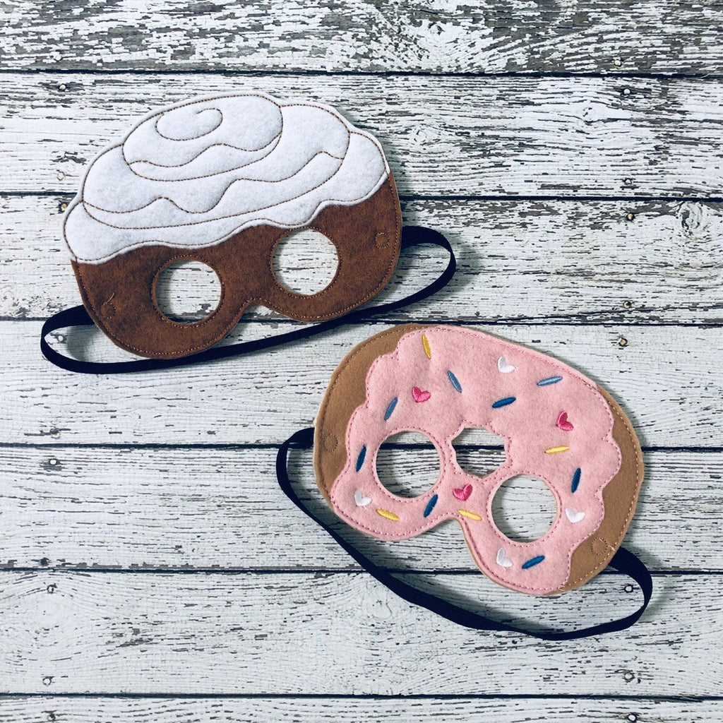 Cinnamon Roll Mask Donut Mask Sweet Roll Mask - 805-masks
