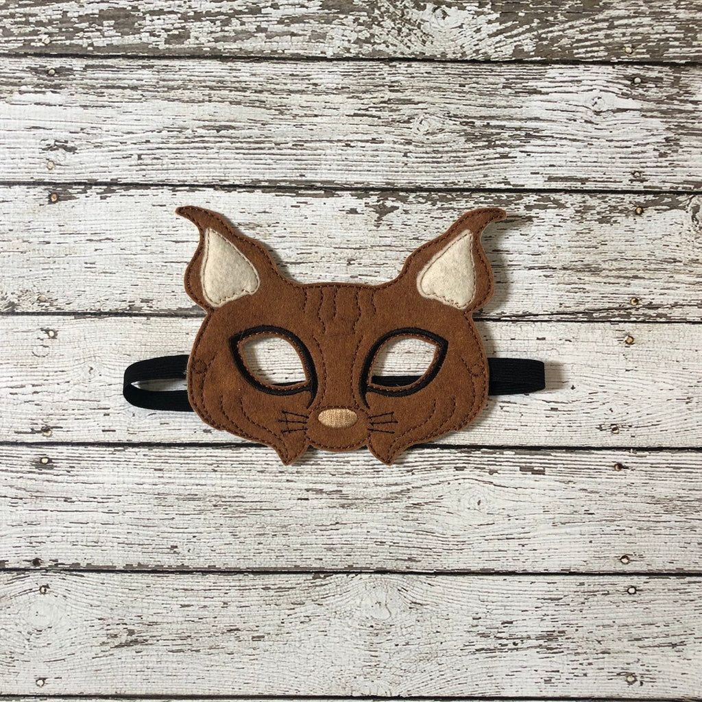 Bobcat Felt Animal Mask - 805 Masks