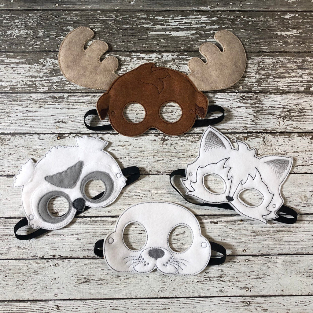 Arctic Animal Felt Masks - 805 Masks