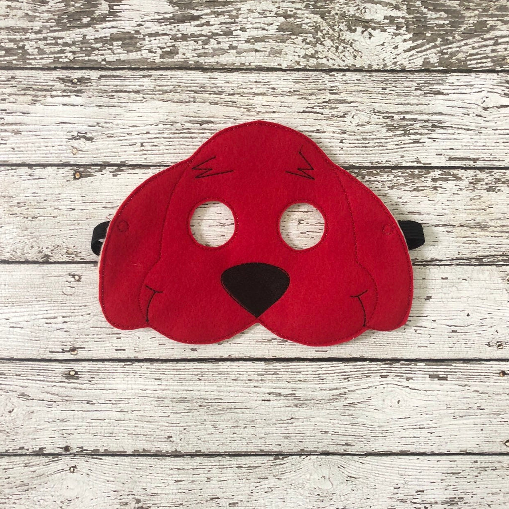 Big Red Dog Mask Clifford Felt Mask - 805 Masks