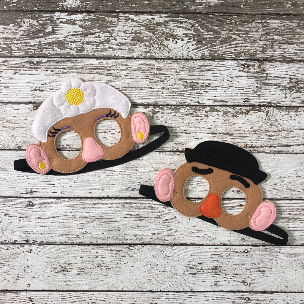 Mr Potato Mrs Potato Toy Story Inspired Mask - 805 Masks
