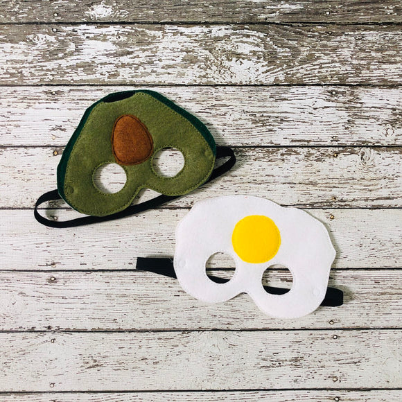 Avocado Felt Mask Fried Egg Felt Mask - 805-masks