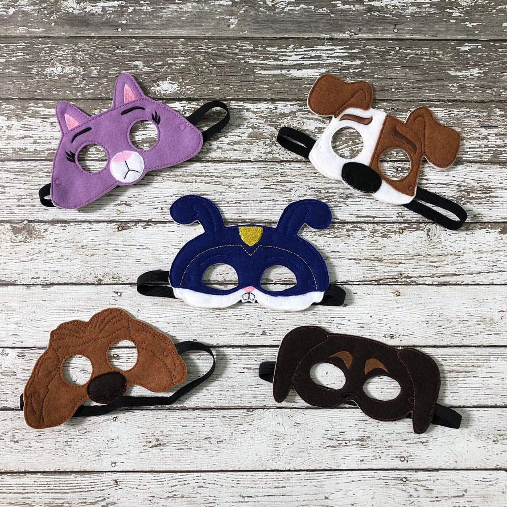 Secret Life of Pets Inspired Kids Felt Mask - 805 Masks