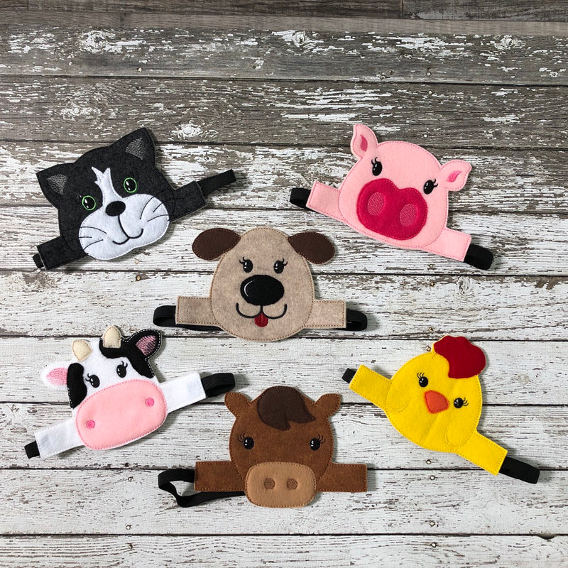 Farm Animal Headband Costumes - 805 Masks