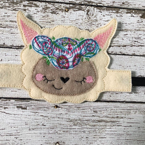 Floral Fox Mask Band Headbands Floral LLama Mask Band Headbands - 805-masks