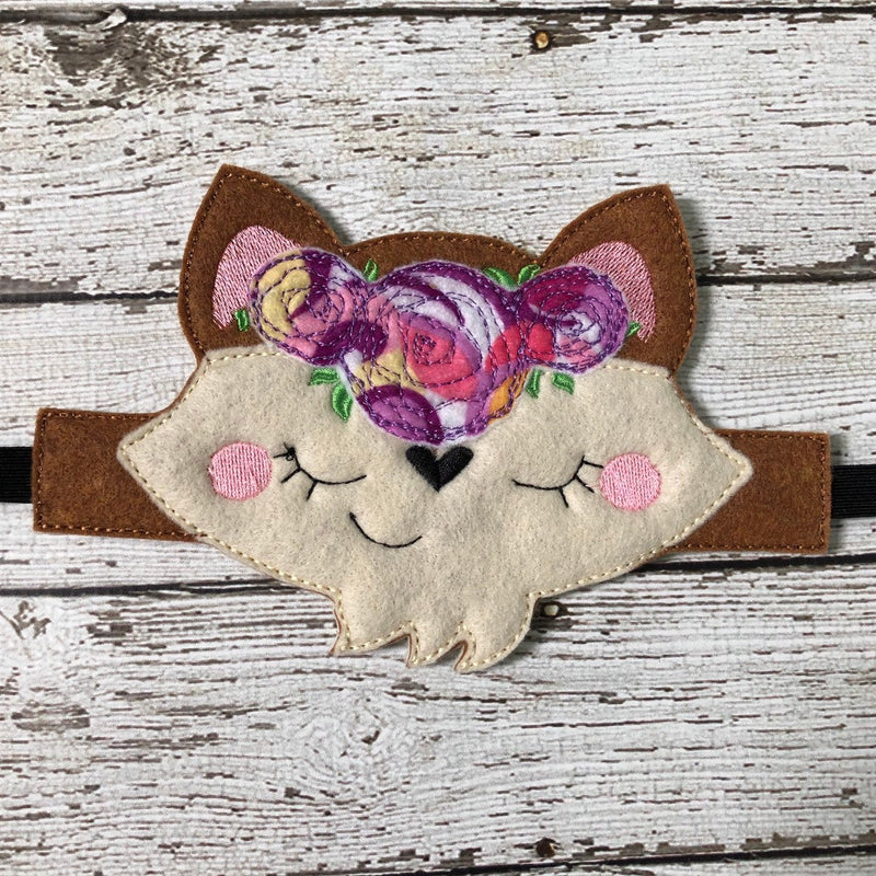 Floral Fox Mask Band Headbands Floral LLama Mask Band Headbands - 805 Masks