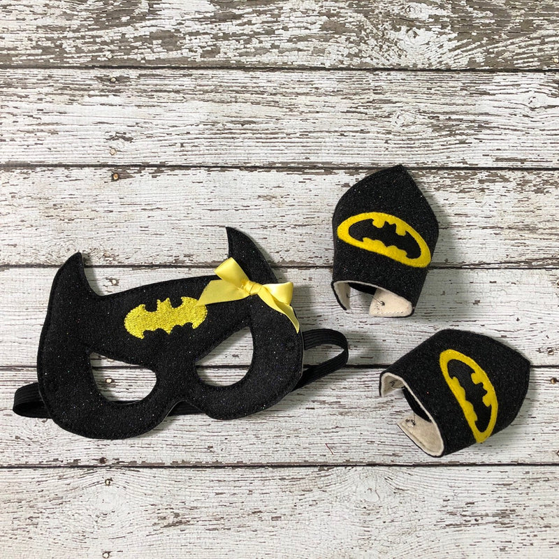 Bat Girl Mask Sparkly Batgirl Costume Cosplay - 805-masks