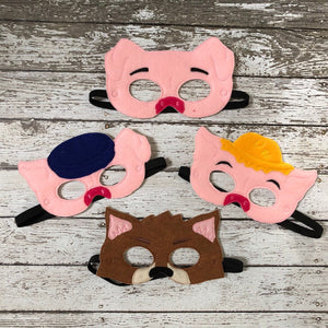 3 Little Pigs Masks Big Bad Wolf Mask - 805 Masks