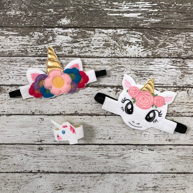 Unicorn Headband Unicorn Mask Unicorn Bracelet - 805-masks