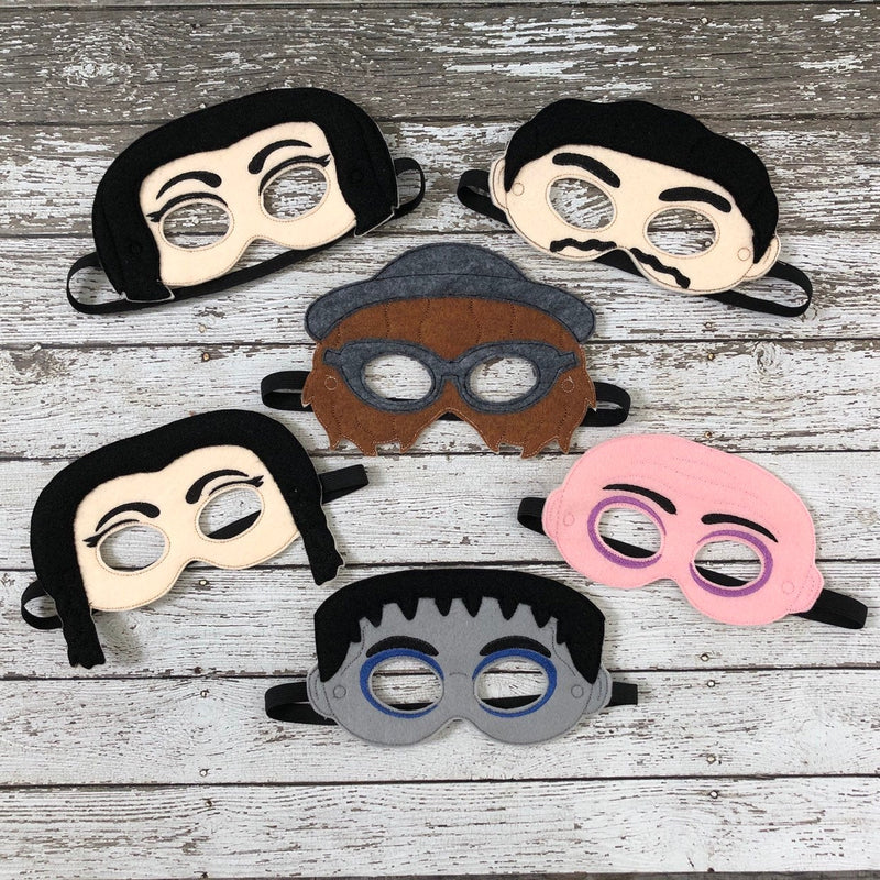 Addams Family Inspired Felt Masks - 805-masks