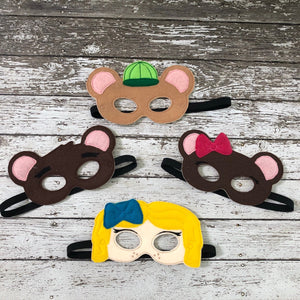 Goldilocks and Three Bears Masks - 805 Masks