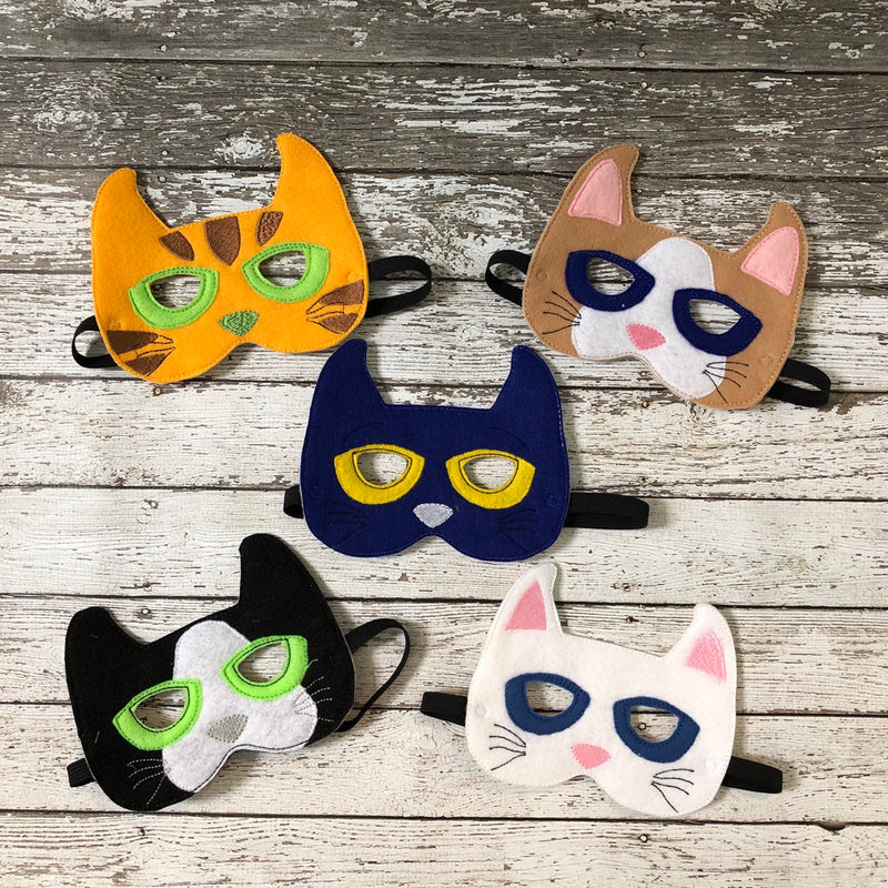 Pete the Cat Inspired Felt Mask - 805 Masks