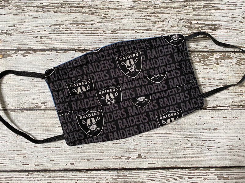 Adult Face Mask with Filter Pocket - Las Vegas Raiders