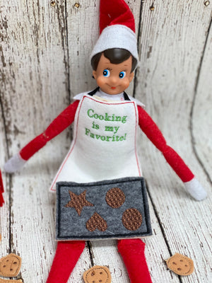 Elf Cookie Stand, Baking and Apron Props