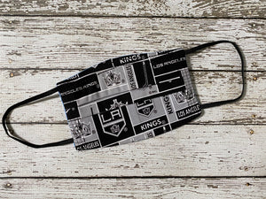 Adult Face Mask with Filter Pocket - Hockey Los Angeles Kings