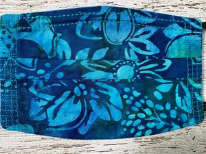 Adult Face Mask with Filter Pocket - Ocean/Tropical Prints