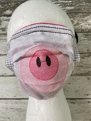 Adult Face Mask with Filter Pocket - Animal Faces