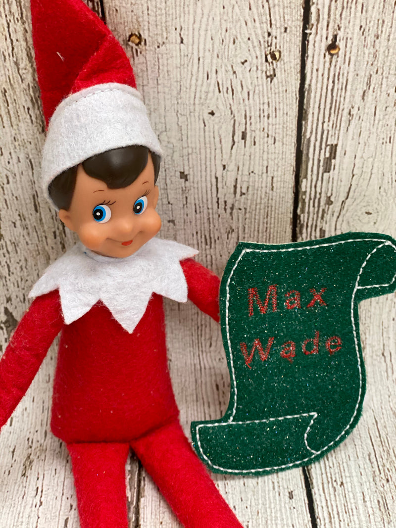 Personalized Elf on the Shelf Nice List