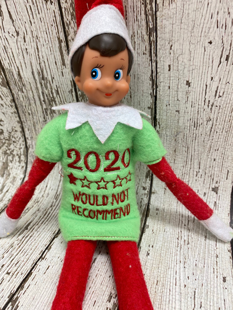 Elf Covid Shirt- 2020 Not Recommended