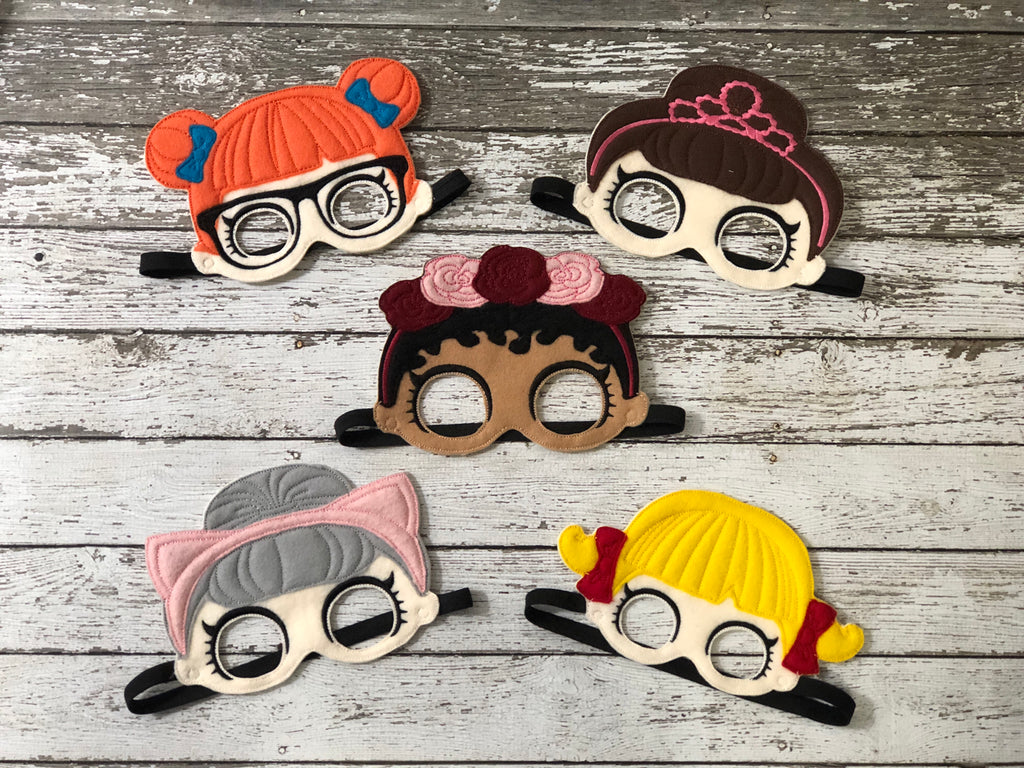 LOL Doll Inspired Felt Masks - 805-masks