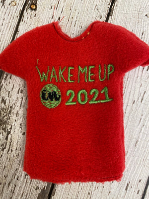 Elf Covid Shirt- Wake Me Up in 2021