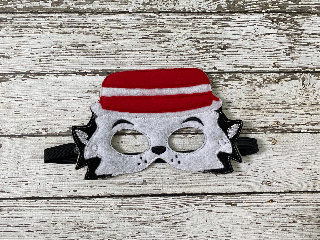 Troublemaker Cat Felt Mask