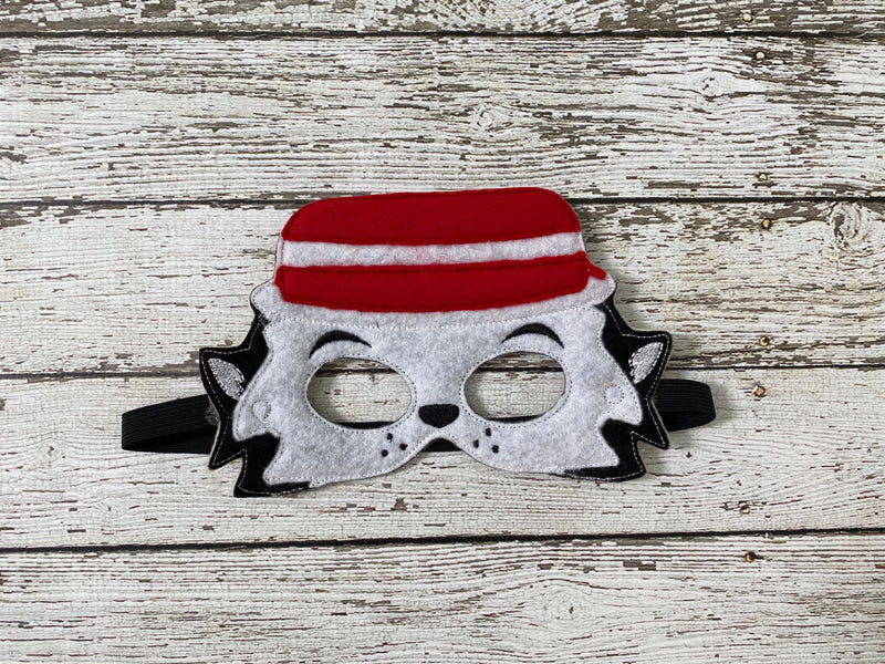 Troublemaker Cat in the Hat Felt Mask