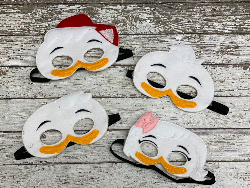 Duck Tales Inspired Felt Masks