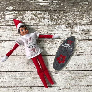 Elf Surf Board and Shirt