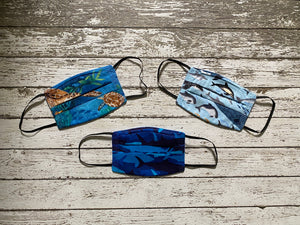 Adult Face Mask with Filter Pocket - More Ocean/Tropical Prints