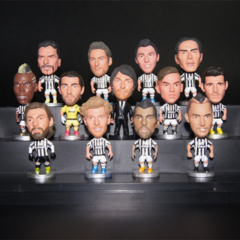 Soccerwe Italy European Soccer Star Lovely Action Figures Toys Fans Collection Football Dolls Gift Pogba Higuain Dybala Buffon